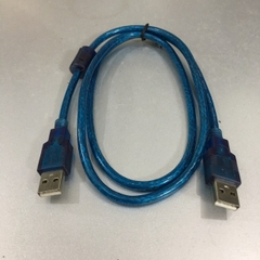 Cáp Link USB 2.0 Hai Đầu Cắm Dương USB 2.0 Type A Male to Type A Male Cable Blue Length 1M