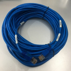Dây Nhẩy Chuẩn Chéo TELDOR CAT5E RJ45 UTP PVC Ethernet Network Patch Cord Crossover Cable 4PR Blue Length 20M