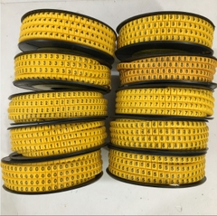 Vòng Đánh Số Đầu Dây Mạng 0-9 1000pcs Yellow Number Cao Su Tròn KAGA EC Type Cable Marker Cable With Diameter Range 4.0 - 6.0mm For UTP STP Patch Cord CAT5E CAT6