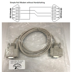 Cáp Kết Nối Cổng Com RS232 V42256-T6-A20 SIEMENS Simple Null Modem without Handshaking RS232 DB9 F to DB9 F PVC Grey Length 2M