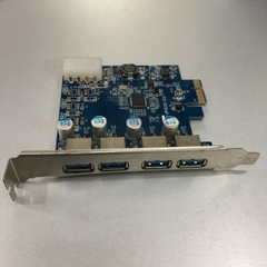 Card PCI Express to 4 Port USB 3.0 Super Speed 5Gbps STAR-UPCIE201-V1.0 For Computer Desktop MT