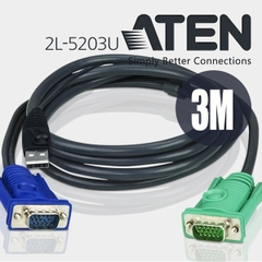 Cáp Điều Khiển ATEN 2L-5203U HD15M USB 3M CABLE SPHD15M3MUL For KVM Switch CS-1708 CS-1716