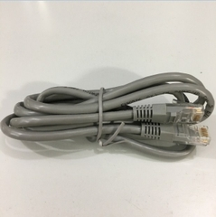 Dây Nhẩy E190576 24AWM 2835 60°C 30V VW-1 Cat5e UTP PVC CM Ethernet Network Patch Straight Through Cable Gray Length 1.5M