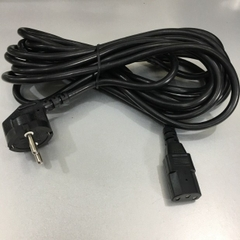 Dây Nguồn HYUNDAI DFI SL-01 European Schuko Power Cord CEE 7/7 to IEC320 C13 10A 250V 3x0.75mm² Length 5M