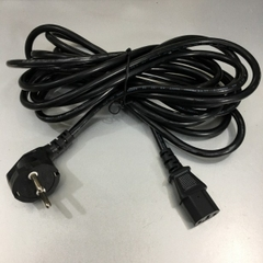 Dây Nguồn KOREA DMC-200 DMC-300 European Schuko Power Cord CEE 7/7 to IEC320 C13 10A 250V 3x0.75mm² Length 5M