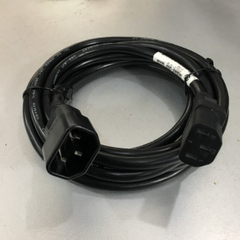 Dây Nguồn Máy Chủ VOLEX V1625 VAC14S 142263-003 AC Power Cord C14 to C13 10A 18AWG 250V 3x1.0mm² For L2 Switch and L3 Switch Network Rack Mount Length 3M