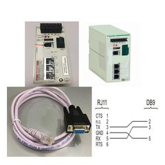 Cáp Cấu Hình Switch Connexium Schneider 490NTRJ11 Cable RJ11 4Pin 4P4C to Com RS232 DB9 Female Length 2M