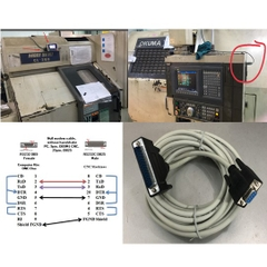 Cáp Lập Trình CNC MACHINE MORI SEIKI CL-203 Computer Và DNC One to Moriseiki CNC Serial Data Cable DB9 Female to DB25 Male Grey Length 5M