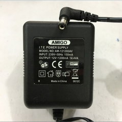 Adapter AC To AC 12V 1200mA AMIGO AM-121200AV ITE Power Supply Connector Size 5.5mm x 2.1mm 90 Degree