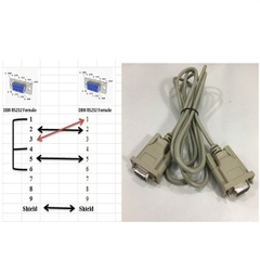 Cáp Kết Nối RS232 Cross Cable Serial DB9 Female to DB9 Female PVC Grey Length 2M