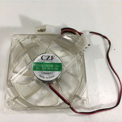 Fan LED CZF C8025B 12LV 80x80x25mm DC 12V 0.25A Connector 2Pin