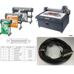 Cáp Kết Nối Máy Vẽ Cắt Mimaki CG Series CF Series Vinyl Cutter RS232C DB25 Male to DB9 Female For CF-0912 CF-1215 CF-1218 CF-60 CF-120 CF-150 CF-0912-2 CF-1215-2 CF-1218-2 Cable Length 5M