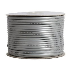 Cáp Mạng Dẹt 8 Lõi Đồng 28 AWG 8 Wire Flat Stranded Cable Silver Length 150M