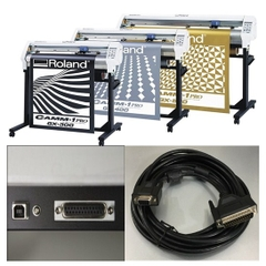 Cáp Kết Nối Máy Vẽ Cắt Decal Roland GX Vinyl Cutter Plotter RS232C DB25 Male to DB9 Female For Roland GX-24 GX-400 GX-300 GX-640 GX-500 Cable Length 5M