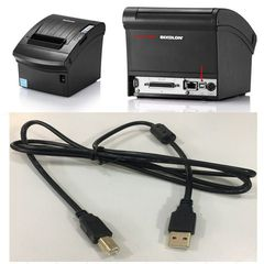 Cáp Máy In Printer Original USB 2.0 Type A Male To Type B Male Cable For Máy In Hóa Đơn BIXOLON SRP-350 SRP-352 PLUSIII 28AWG Black Length 1.5M