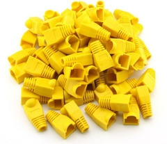 Đầu Boot color chụp dây mạng cat5/cat6 RJ45 Rubber Boot Packs For Network / Patch Cables (100PCS) YELLOW