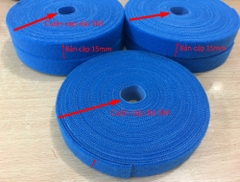 Băng Cuộn Bó Cáp VELCRO BRAND ONE-WRA Roll WRAP TAPE YARD ROLL 15mm x 5m Blue For Fiber Optic Network Ethernet Patch Cord Cable Dài 5M