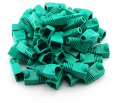 Đầu Boot color chụp dây mạng cat5/cat6 RJ45 Rubber Boot Packs For Network / Patch Cables (100PCS) GREEN