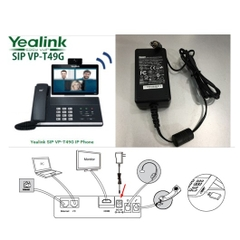 Adapter 12V 2A 24W SUNNY For Điện Thoại Yealink SIP VP-T49G Dubai Video Collaboration Phone Connector Size 5.5mm x 2.5mm