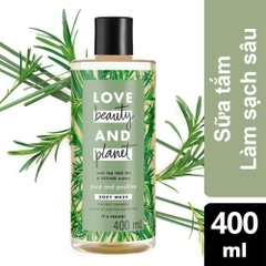 Sữa Tắm Detox Love Beauty And Planet Pure And Positive (400ML)