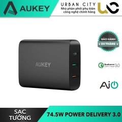 Sạc Aukey PA-Y13 74.5W Power Delivery, AiPower Sạc Nhanh QC 3.0