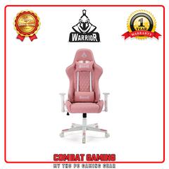 Ghế Gaming WARRIOR – RAIDER SERRIES - WGC206 (WHITE/PINK)