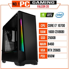 PC GAMING FALCON 020 (I7 10700/B460/16GB RAM/250GB SSD/RTX 2060 SUPER/650W/Tản EK-AIO 240/RGB)