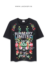 Burberry Montage Print Flower Black T-shirt