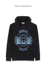 Gucci Logo Blue Square Oversized Hooded  Sưeatshirt ds20