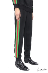 Gucci Black/Green Logo Track Pant ds20
