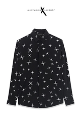 Lak Studios Flash Print Black Shirt