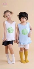 BỘ THUN TRẺ EM LALA - FASHION KID AND MORE - 100% COTTON (IN CHỮ XANH)