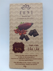 Chocolate đen Zeni 62% - 93g