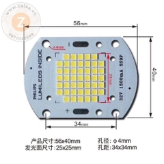 Chip Led Philips Lumiled COB 50w