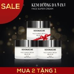 COMBO KEM NỀN FACE SUPER CREAM 5 IN 1