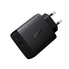 Cốc Sạc 2 Cổng AUKEY 18W Quick Charge QC 3.0 Power Delivery PD 2.0 USB-C PA-Y17