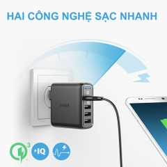 Cốc Sạc ANKER PowerPort Speed 4 Cổng 43.5W Quick Charge QC 3.0 A2040