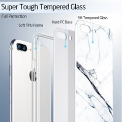 Ốp lưng ESR Marble Glass iPhone 7 / 8 Plus