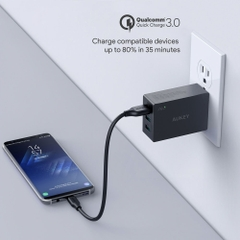 Sạc 3 Cổng Aukey 42W 2 Cổng Aipower 1 Cổng Quick Charge QC 3.0 PA-T14