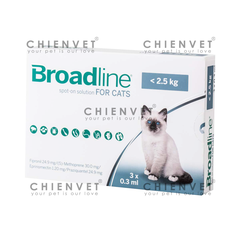 Broadline for Cat <2.5kg - Thuốc trị nội ngoại kí sinh trùng cho mèo dưới 2.5kg