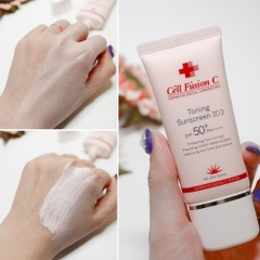 Kem chống nắng cell fusion c toning sunscreen 100 spf 50+ pa++++ dermatologically tested 35ml