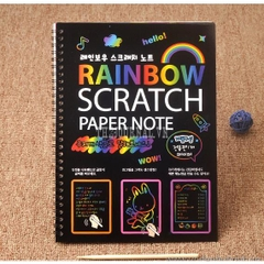 Sổ Scratch note rainbow