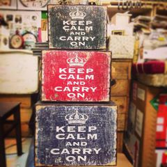 Set 3 Vali Vintage Keep Calm