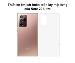 Dán PPF trong suốt chống trầy mặt lưng cho Samsung Note 20 Ultra