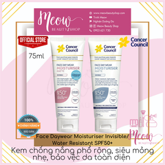 Cancer Council - Kem chống nắng phổ rộng Face Daywear Moisturiser Invisible/ Water Resistant SPF50+ (75ml)