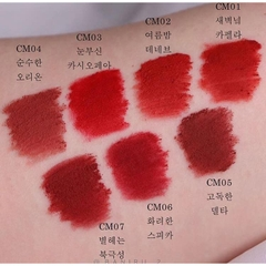 Son Kem Lì Black Rouge Cream Matt Rouge Color Chart