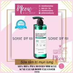 Some By Mi - Sữa Tắm Sạch Mụn Lưng Some By Mi AHA-BHA-PHA 30 Days Miracle Acne Clear Body Cleanser 400ml