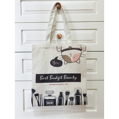 Túi Vải Tote Canvas Meow Beauty Shop