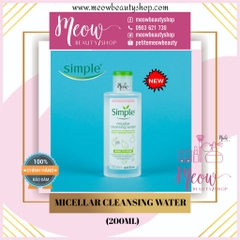 Simple - Nước tẩy trang Simple Micellar Cleansing Water (200ml)