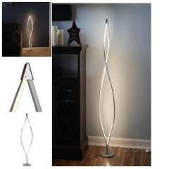 Đen trang trí Brightech Twist LED Floor Lamp - Decorative Light Fixture with 920 Lumens